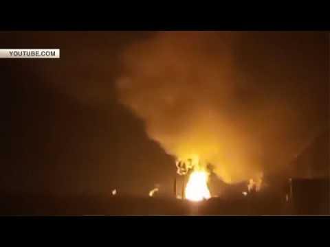 Пожар в Казани на пороховом …