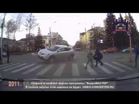 Водитель протаранил автомобиль нарушительницы, чтобы она не сбила ребенка