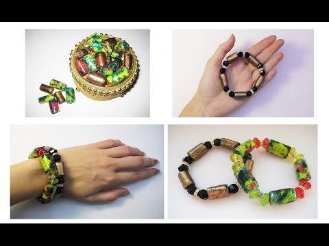 Оригинальные браслеты из пла…