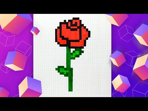 Как нарисовать розу по клето…