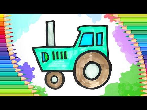 Как легко нарисовать трактор…
