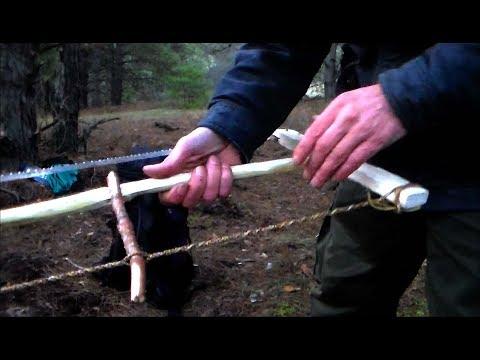 Как в лесу изготовить классическую пилу