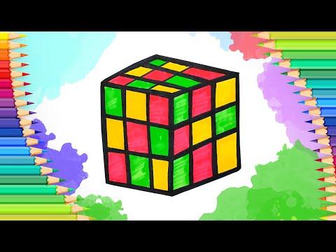 Как нарисовать кубик-рубик l…