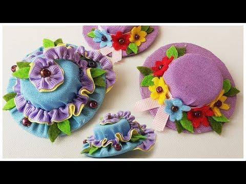 Легкие в изготовлении мини шляпки — заколки для волос