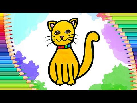 Как нарисовать кошку l Учимс…