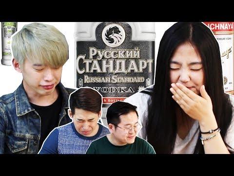 Корейцы впервые попробовали русскую водку! Эпичная реакция