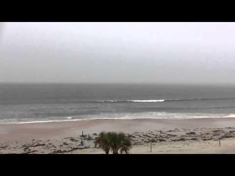 Мощнейшая молния ударила прямо в океан. Страшные но красивые кадры
