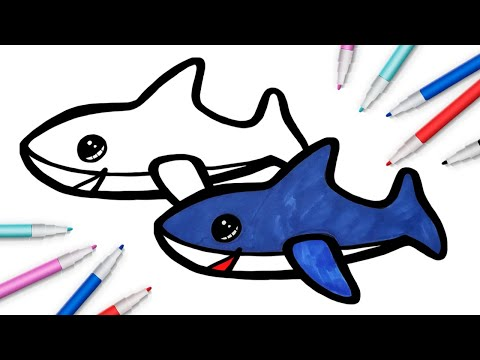 Акула из Икеи - рисовать рис…