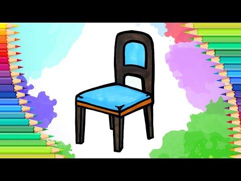 Как нарисовать стул l Просты…