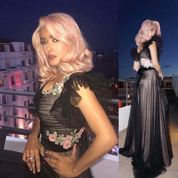 Розовые волосы Сальмы Хайек:  ДА или НЕТ