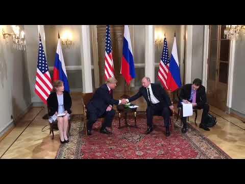 Мужское рукопожатие Путина и Трампа