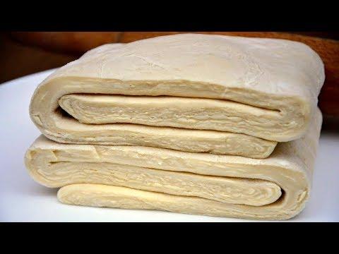 Быстрое слоёное тесто за 15 минут!