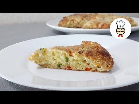Сырная лепешка с зеленым лук…