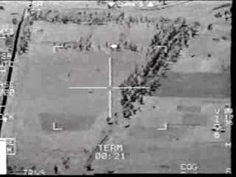 Уникальные кадры попадания американской ракеты по иракской ЗРК «от первого лица»
