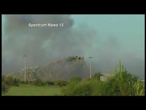 Взрыв стартового комплекса Канаверал американских военных попал на видео