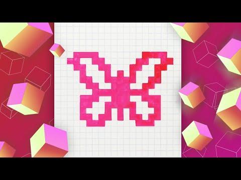 Бабочка по клеточкам – рисуе…