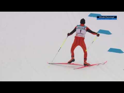 Венесуэльский лыжник устроил на соревнованиях настоящую клоунаду