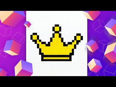 Как нарисовать корону по кле…