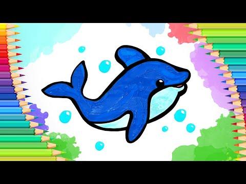 Как нарисовать милого дельфи…