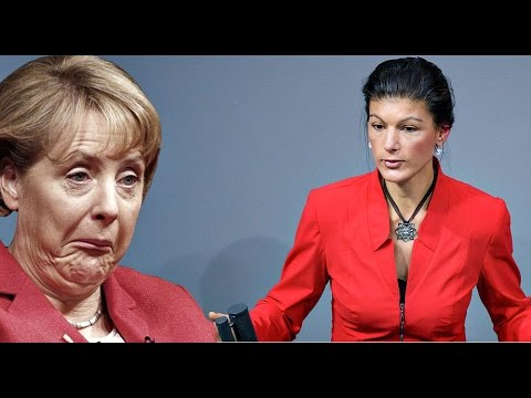 Умную из себя строишь? Сара Вагенкнехт уничтожает Меркель под аплодисменты!!!