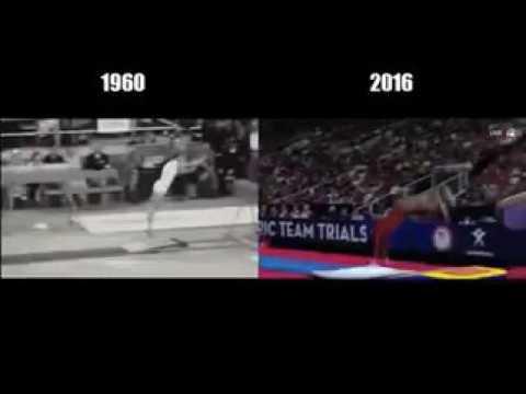 Гимнастика: 1960 vs 2016
