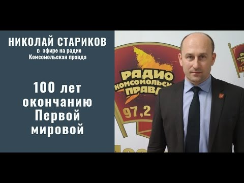 Николай Стариков: 100 лет окончания Первой мировой