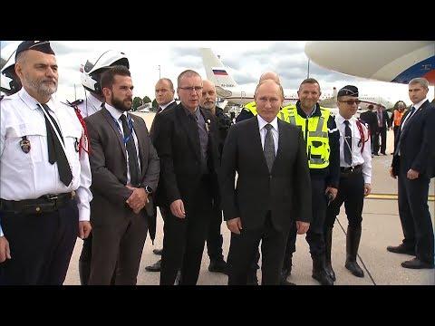 Французские силовики не хотели отпускать Путина домой. Видео
