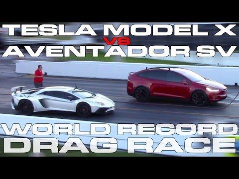 Tesla Model X обогнал спорткар Lamborghini и установил мировой рекорд