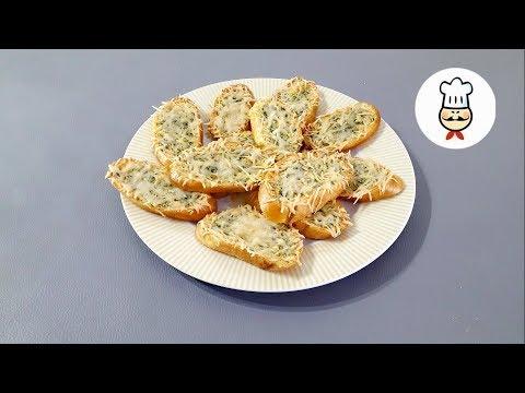 Гренки чесночно-сырные