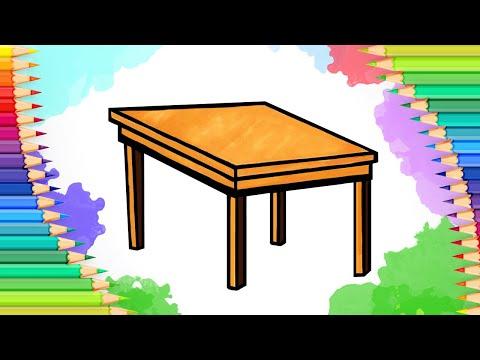 Как нарисовать стол l Просты…