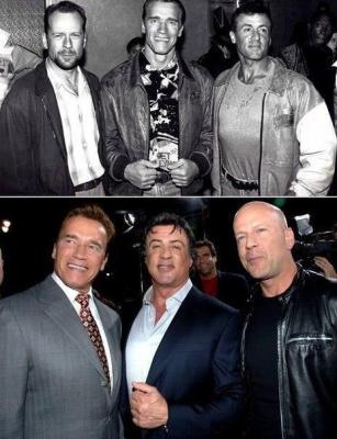 Фото, сделанное с разницей в 30 лет.