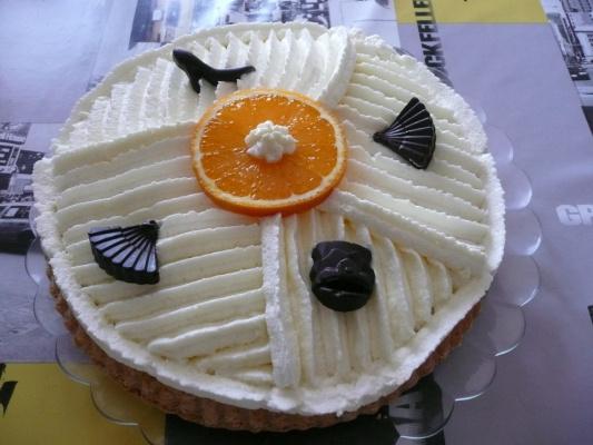 Грушевый тарт  со сливками =)