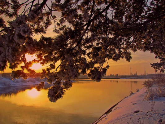 Закат на Урале.