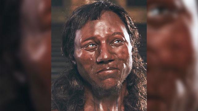 Реконструированный по человеческим останкам портрет человека, жившего10 тыс лет назад, где?