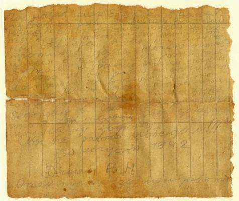 Последнее письмо Василия Дигина, 1942 год, СССР