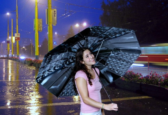 вечер под дождём.