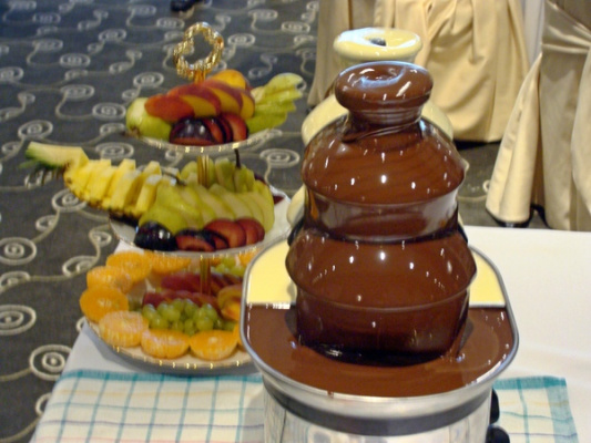шоколадно-фруктовая фантазия.