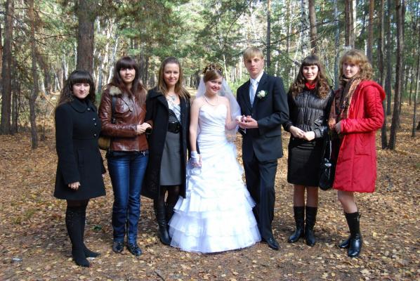 с подружками невесты.10.10.09