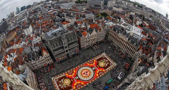 ковер из цветов в Брюсселе