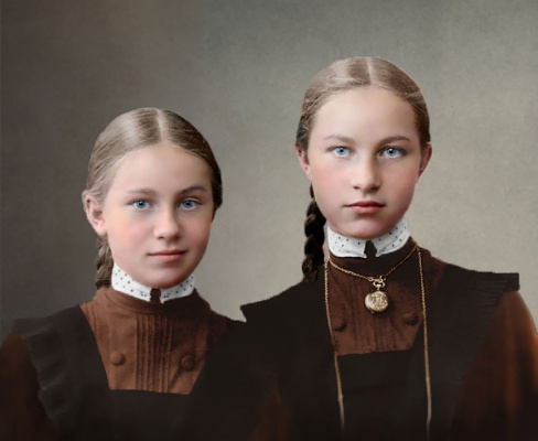 Дѣвочки-гимназистки
