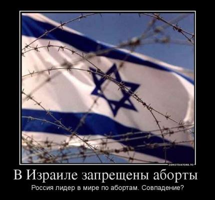 В Израиле запрещены аборты. Россия - лидер по абортам. Совпадение?