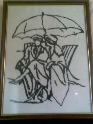 Двое по одним зонтом