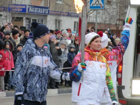 Олимпийский огонь в Белгороде