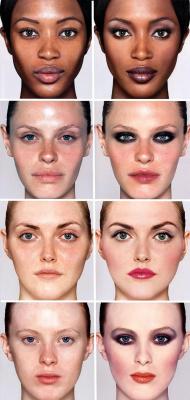 Великая сила макияжа: модели ДО и ПОСЛЕ...