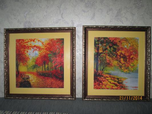 Осенний парк и Осенний берег