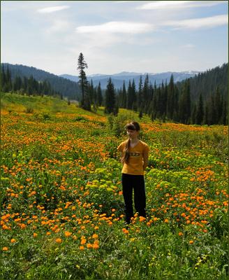 В цветочном раю