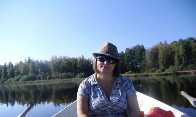 На озере Куувеси в Финляндии.