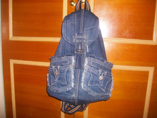 Рюкзак из старых джинсов своими руками мастер класс