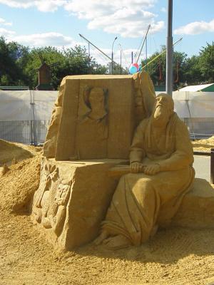Скульптуры из песка 4