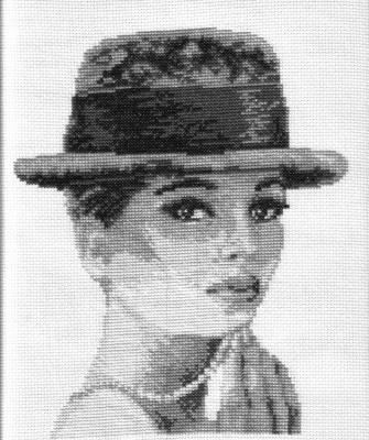 дама в шляпке